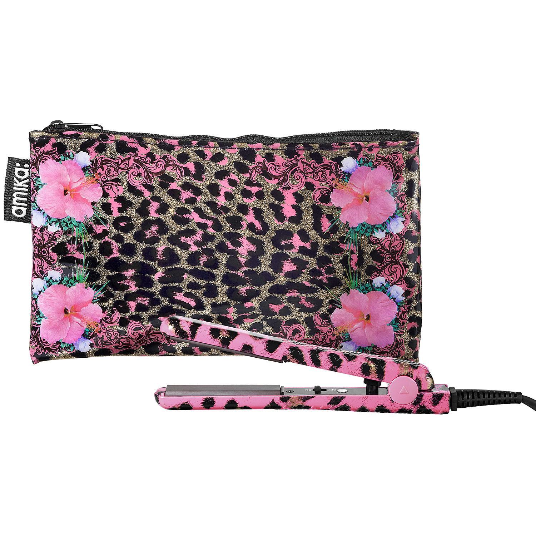 Glitzy Gold & Pink Leopard Mini Ceramic Styler
