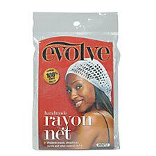 Evolve White Rayon Hair Net