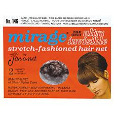 Mirage Ultra Invisible Dark Hair Net