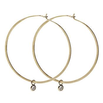 Dotty, Medium Hoop Earrings, Gold 1 pair