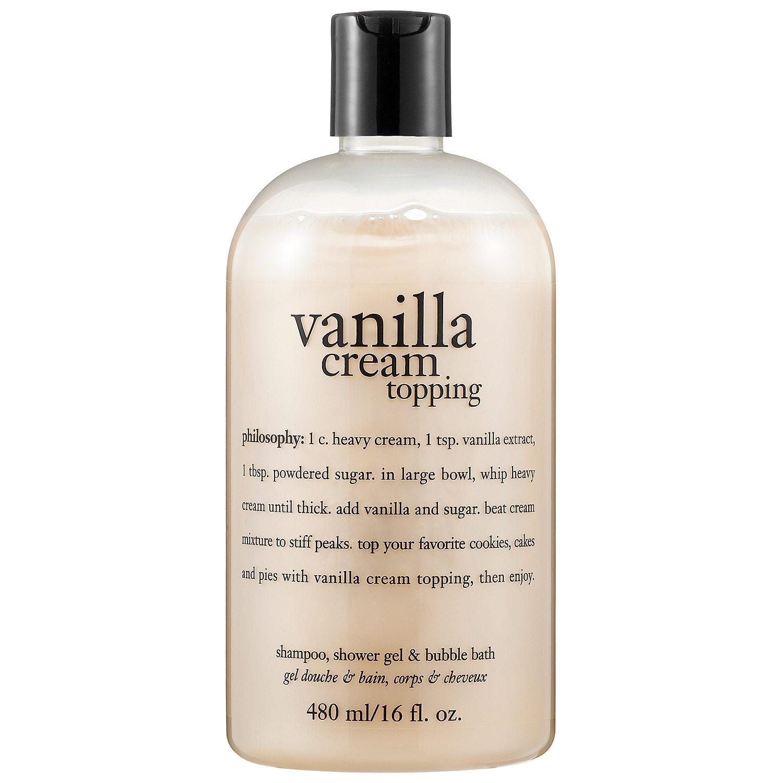 Vanilla Cream Topping Shampoo, Shower Gel & Bubble Bath