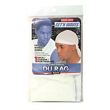 Get 'N Waves Super Stretch Du Rag - White