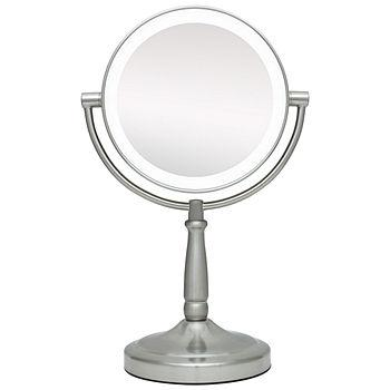 Dual sided LED Vanity mirror,  LED lighted 1X & 10X magnification, cordless1 ea