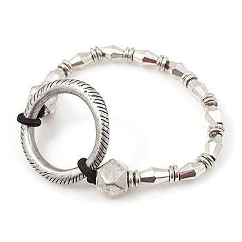 Alamo Silver Diamond Bracelet, Silver1 ea