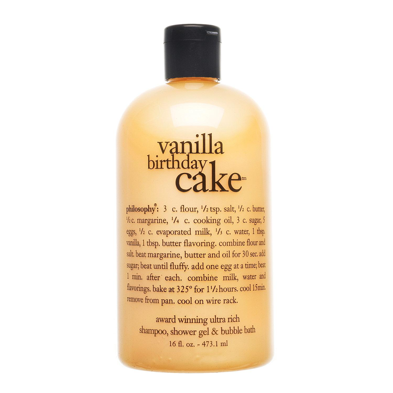 Vanilla Birthday Cake Shampoo, Shower Gel & Bubble Bath