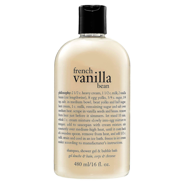 French Vanilla Bean Shampoo, Shower Gel & Bubble Bath