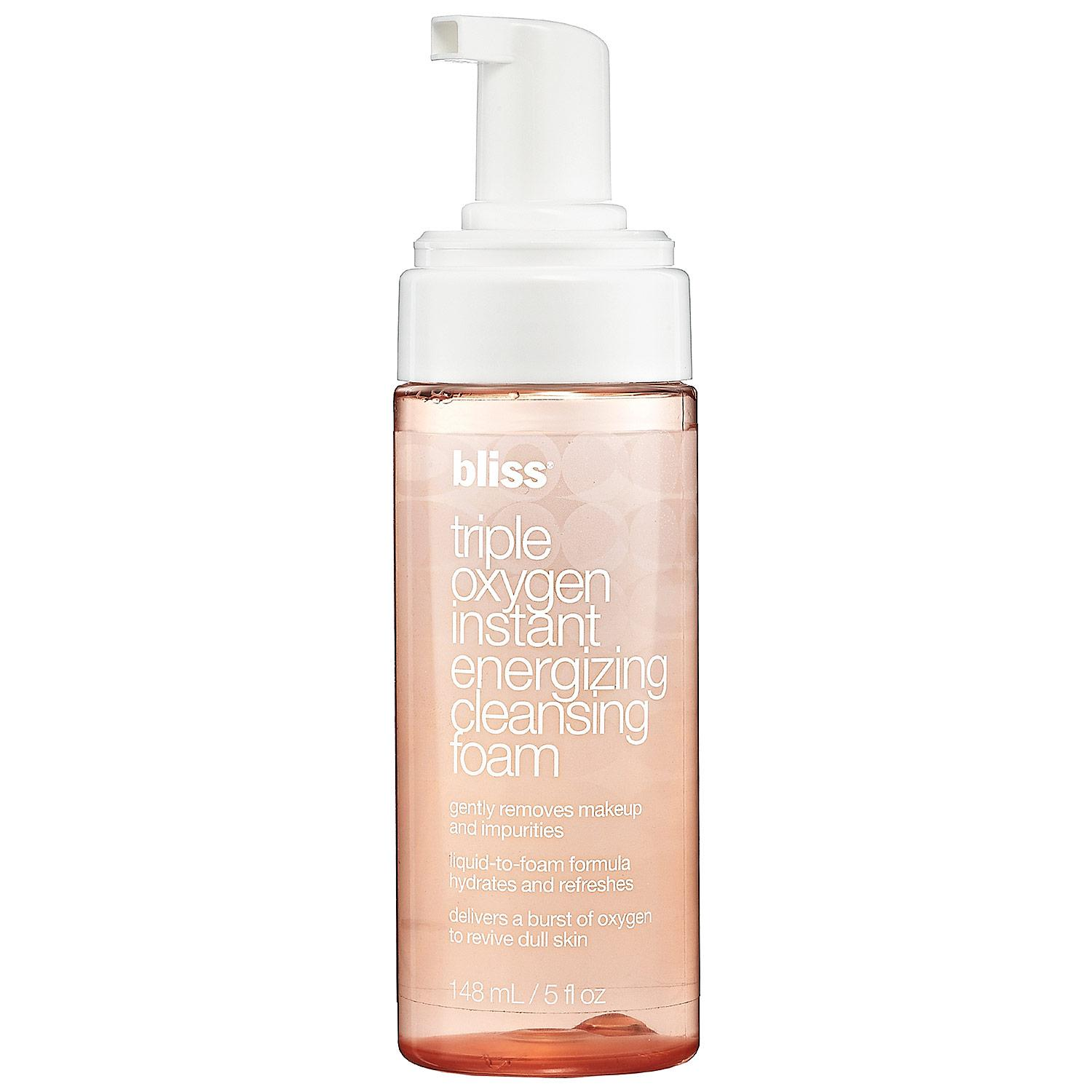 Triple Oxygen Instant Energizing Cleansing Foam