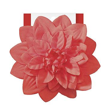 Large Flower Salon Clip- Orange