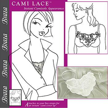Cami Lace Instant Camisole, One Size, Cream 1 ea