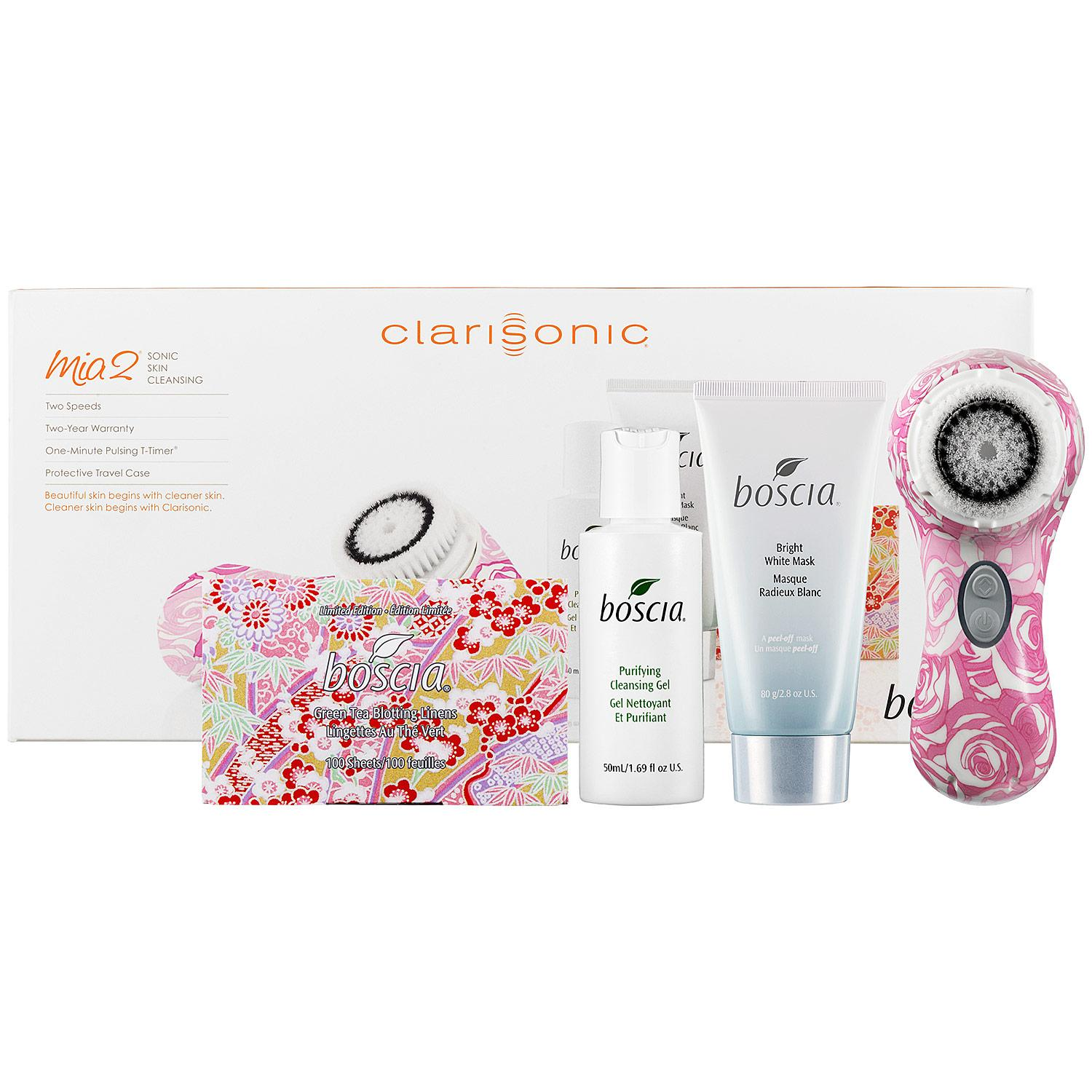 Mia2™ Sonic Cleansing Brush Brightening Blossom with Boscia