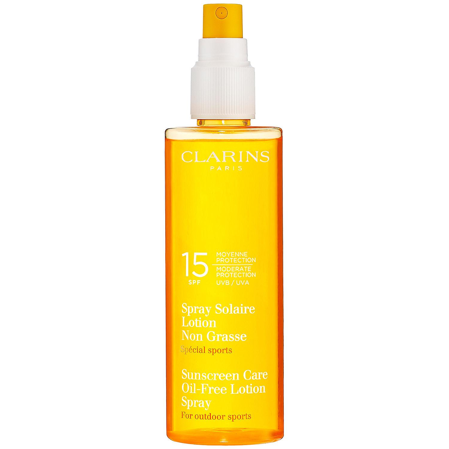clarins sunscreen spray oil free lotion progressive tanning spf 15 questions and reviews. Black Bedroom Furniture Sets. Home Design Ideas
