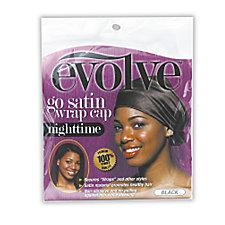 Evolve Black Go Satin Wrap Cap